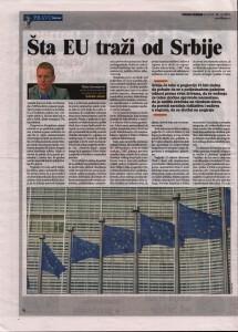 Sta EU trazi od Srbije (Danas, 28.07.2015.)
