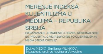 Indeks klijentelizma u medijima: Merenje stvarnosti
