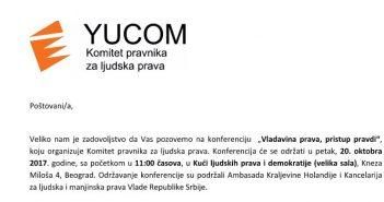 "Konferencija ""Vladavina prava, pristup pravdi"""
