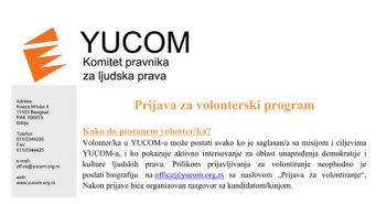 Prijava za volonterski program