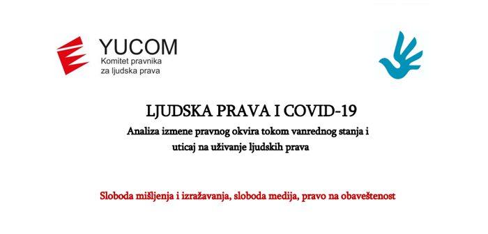 LJUDSKA PRAVA I COVID-19 – Sloboda mišljenja i izražavanja, sloboda medija, pravo na obaveštenost