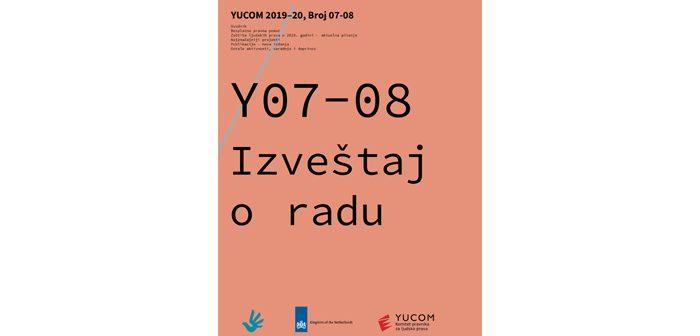 Izveštaj o radu Y07-08