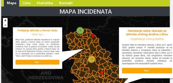 SOLIDARNO ZA PRAVA SVIH – Prva mapa napada i pritisaka na organizacije, neformalne grupe i pojedince u Srbiji